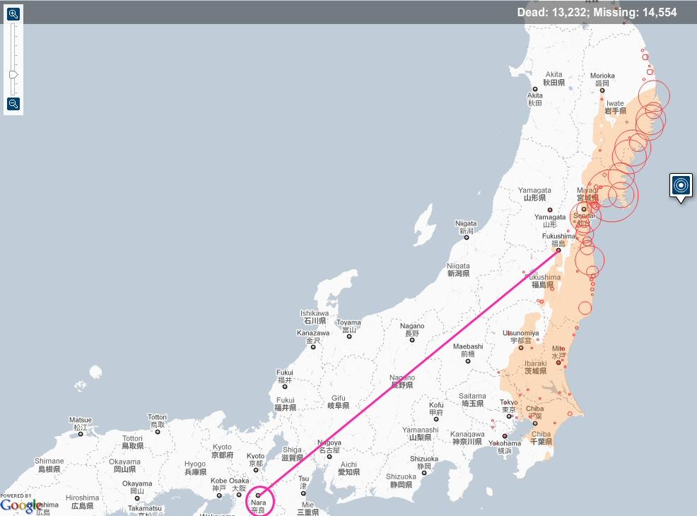 Latest Information About The Fukushima Daiichi Nuclear Power Plant - Japan map fukushima
